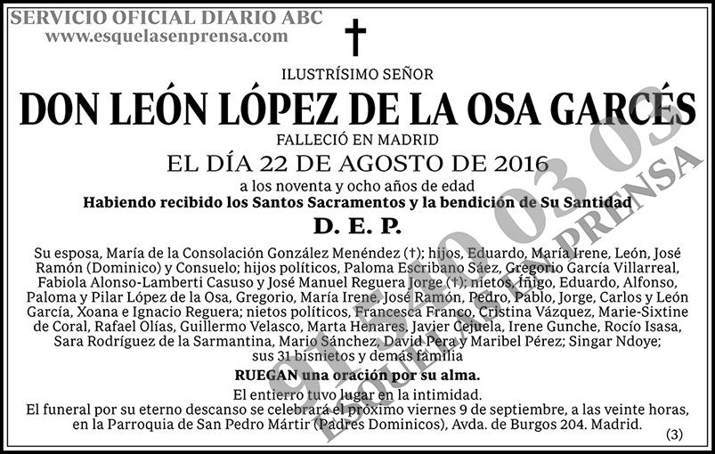 León López de la Osa Garcés
